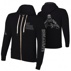"Braun Strowman ""Get These Hands"" Full Zip Hoodie Sweatshirt"
