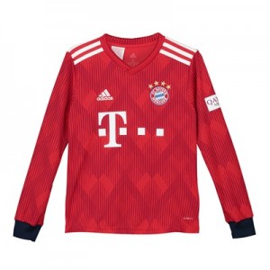 FC Bayern Home Shirt 2018-19 - Kids - Long Sleeve