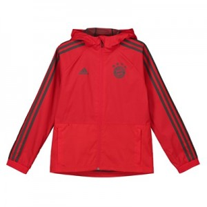 FC Bayern Training Rain Jacket - Red - Kids