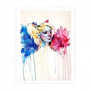 Alexa Bliss Rob Schamberger 11 x 14 Art Print