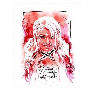 Alexa Bliss 11 x 14 Rob Schamberger Art Print