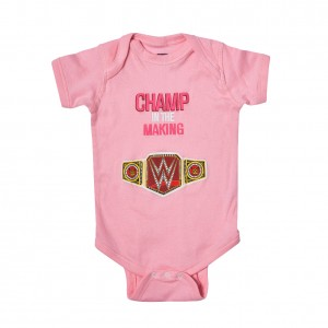 "WWE ""Champ in The Making"" Girls Onesie Creeper"