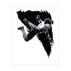 AJ Styles Rob Schamberger 11 x 14 Art Print
