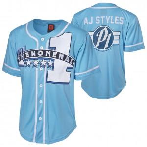 "AJ Styles ""The Phenomenal One"" Baseball Jersey"