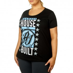 "AJ Styles ""The House that AJ Styles Built"" Women's Curvy T-Shirt"