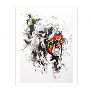 Ultimate Warrior 11 x 14 Rob Schamberger Art Print