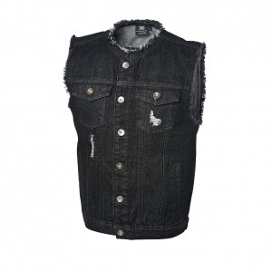 "Aleister Black ""Fade To Black"" Denim Vest"