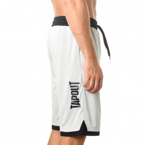 "Tapout ""War Room"" White Shorts"