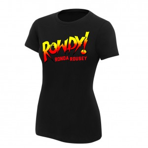 "Ronda Rousey ""Rowdy Ronda Rousey"" Women's Black Authentic T-Shirt"