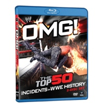 OMG! Top 50 Incidents in WWE History Blu Ray