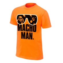 "Macho Man"" Randy Savage Orange T-Shirt"