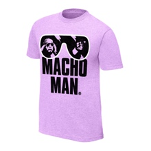 "Macho Man"" Randy Savage Purple T-Shirt"