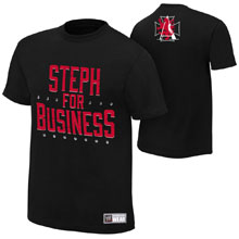 """Stephanie McMahon """"Steph For Business"""" Youth Authentic T-Shirt"""