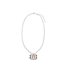 The Bellas Logo Silver Necklace