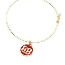 The Bellas Red Butterfly Gold Wire Bracelet