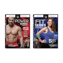 WWE Power & Fit Series DVD Package