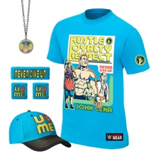"""John Cena """"Throwback"""" Youth Authentic T-Shirt Package"""