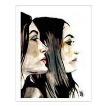 The Bella Twins 11 x 14 Art Print
