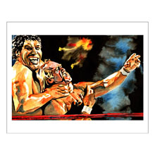 Andre The Giant & Hulk Hogan11 x 14 Art Print