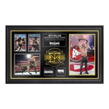 Seth Rollins SIGNED WrestleMania 31 Framed Ring Rope Framed Collage