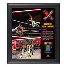 The New Day Extreme Rules 15  x 17 Framed Ring Canvas Photo Collage
