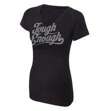 Tough Enough Women's Black V-Neck T-Shirt