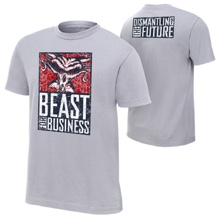 "Brock Lesnar & Paul Heyman ""Beast For Business"" Authentic T-Shirt"