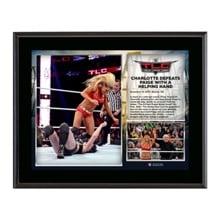 WWE TLC 2015 Charlotte 10.5 x 13 Photo Collage Plaque