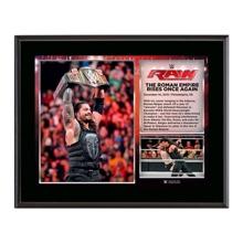 Roman Reigns Wins WWE World Heavyweight Championship 10.5 x 13 Photo Collage Plaque