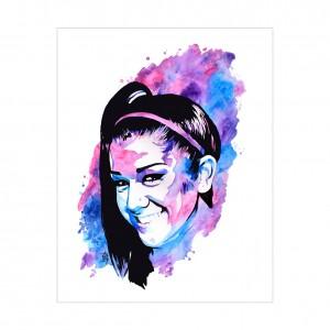 Bayley Rob Schamberger 11 x 14 Art Print