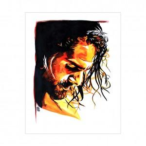 Seth Rollins Rob Schamberger 11 x 14 Art Print