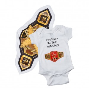 WWE Unisex Onesie Creeper w/ NXT Championship Towel