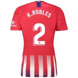 Atlético de Madrid Home Stadium Shirt 2018-19 - Womens with K. Robles 2 printing