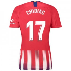 Atlético de Madrid Home Stadium Shirt 2018-19 - Womens with Chidiac 17 printing