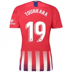 Atlético de Madrid Home Stadium Shirt 2018-19 - Womens with Tounkara 19 printing