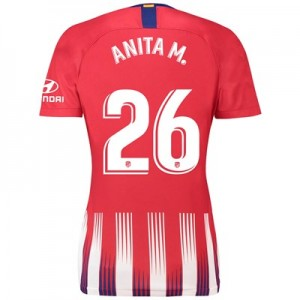 Atlético de Madrid Home Stadium Shirt 2018-19 - Womens with Anita M. 26 printing