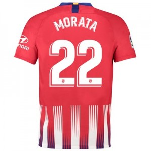 Atlético de Madrid Home Stadium Shirt 2018-19 with Morata 22 printing
