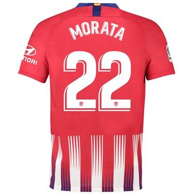 Atlético de Madrid Home Stadium Shirt 2018-19 with Morata 22 printing