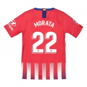 Atlético de Madrid Home Stadium Shirt 2018-19 - Kids with Morata 22 printing