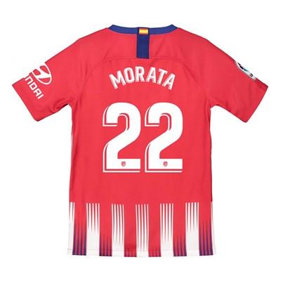 Atlético de Madrid Home Stadium Shirt 2018-19 - Kids with Morata 22 printing