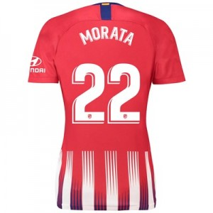 Atlético de Madrid Home Stadium Shirt 2018-19 - Womens with Morata 22 printing