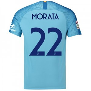 Atlético de Madrid Away Cup Stadium Shirt 2018-19 with Morata 22 printing