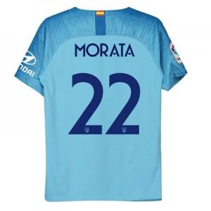 Atlético de Madrid Away Cup Stadium Shirt 2018-19 - Kids with Morata 22 printing