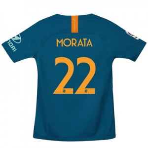 Atlético de Madrid Third Cup Stadium Shirt 2018-19 - Kids with Morata 22 printing