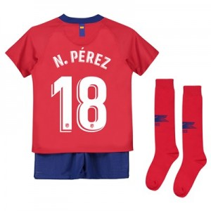 Atlético de Madrid Home Stadium Kit 2018-19 - Little Kids with N. Pérez 18 printing