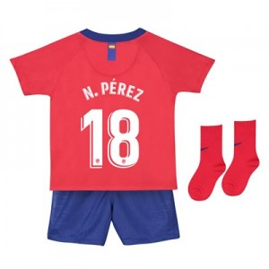 Atlético de Madrid Home Stadium Kit 2018-19- Infants with N. Pérez 18 printing
