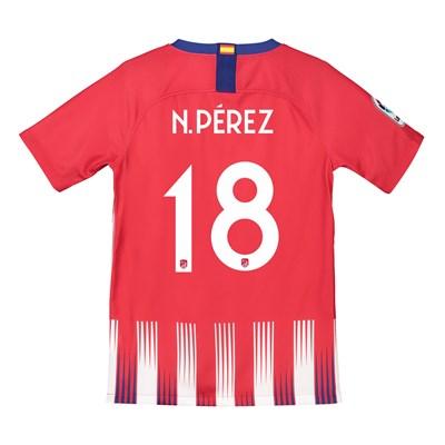 Atlético de Madrid Home Cup Stadium Shirt 2018-19 - Kids with N. Pérez 18 printing