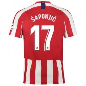 Atlético de Madrid Home Stadium Shirt 2019-20 with Šaponjic 17 printing
