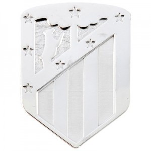 Atlético de Madrid Crest Pin Badge - 925 Sterling Silver
