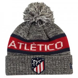 Atlético de Madrid New Era Jake Bobble Hat - Grey Marl